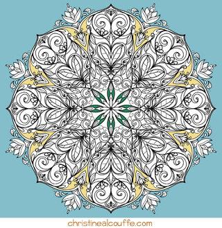Mandala à colorier - Illustration Personnelle