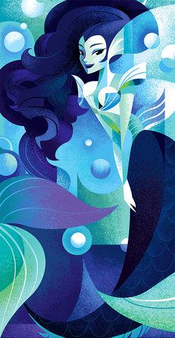 Sirène - Illustration personnelle