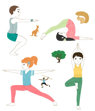 Mon imagier Yoga - Editions Mango