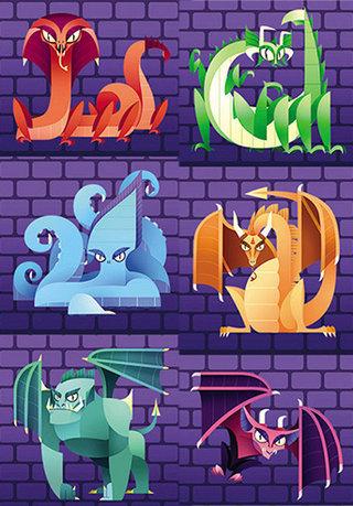 Monstres pour le jeu Shy Monsters, Oz editions