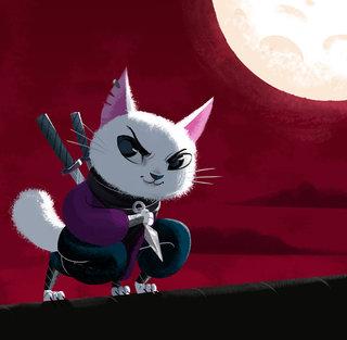 Chat Ninja - Illustration personnelle