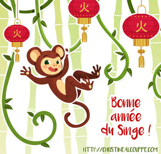 Nouvel an chinois - Illustration personnelle