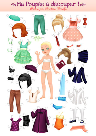 Paper doll - Illustration personnelle