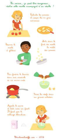 La recette du quatre-quart aux pommes 2/3