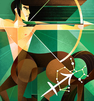 Sagittaire - Série horoscope, illustration personnelle