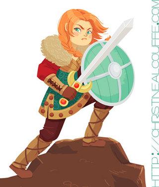 Guerrière Viking - Illustration personnelle