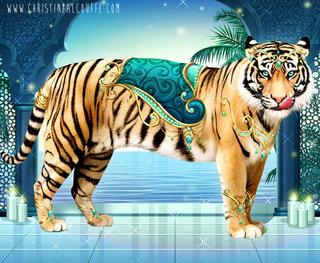 Carnet Créatif Wild Animals - Tigre Maharadjah