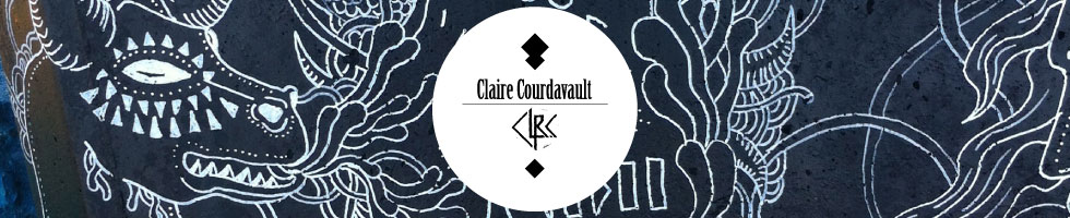 Claire Courdavault : Expositions : Exposition ::VINYLES/CHIMERES:: Atelier M'so, Paris