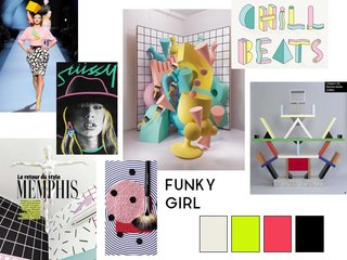 Funky Girl mood board