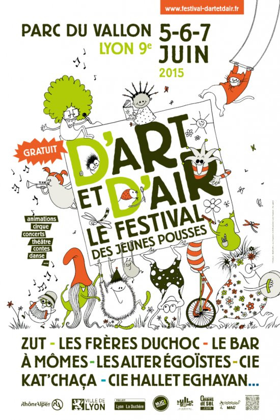 Visuel du festival D'Art et d'Air, juin 2015, Lyon