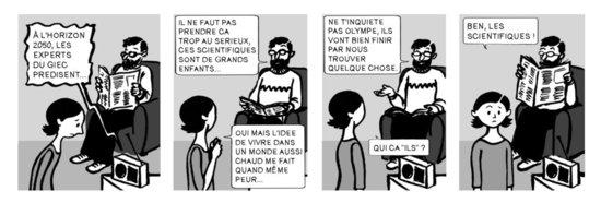Les scientifiques - BD Olympe Cépalpérou, scénario Vincent Vigon