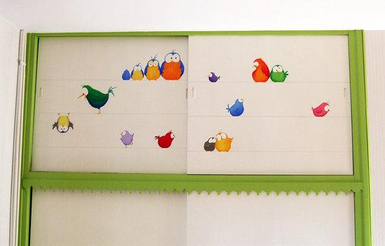 Peinture placard chambre d'enfant