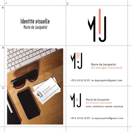 Création et déclinaison - Identité visuelle, Marie de Jacquelot