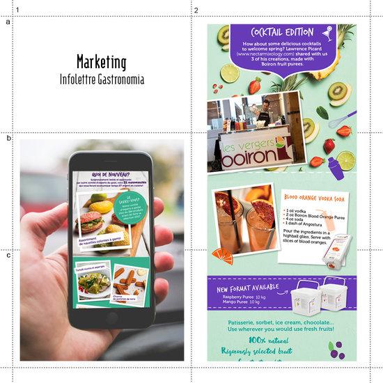 Marketing web - Infolettre Gastronomia