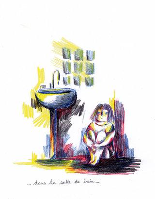 - dans la salle de bain -