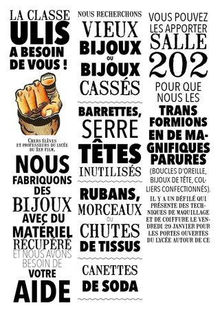 Affiche pour la classe Ulis