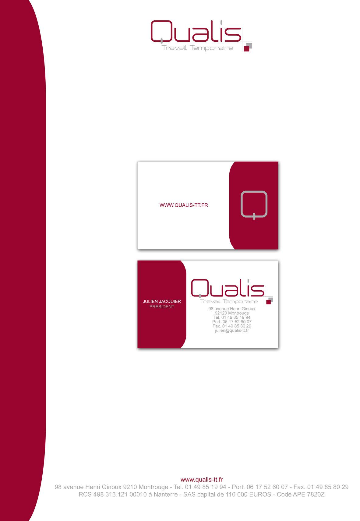 Mon Book Graphiste Multimedia Portfolio Papiers En Tte Et Cartes De Visite Pour Qualys Agence Dintrim