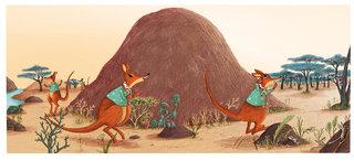 """""""Dans la poche du kangourou"""" Père Castor Flammarion. 2015"""