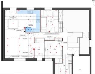 Plan de la maison rénovée