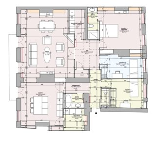 Plan d'un appartement haussmannien