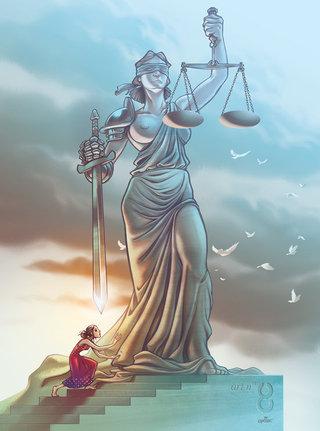 illustration art. 8 des Droits de l'Homme