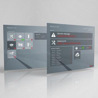 Interface logiciel MyStore 2.0