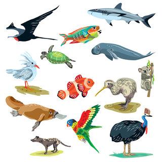 dessins d'animaux pour globe terrestre