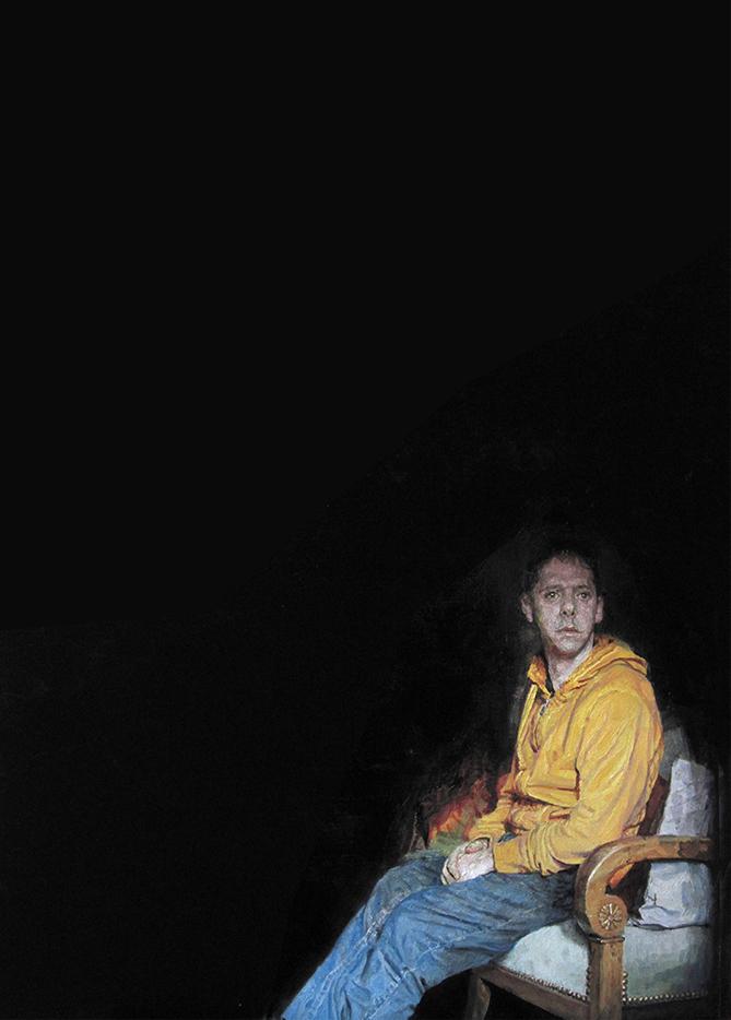 Autoportrait au sweet jaune