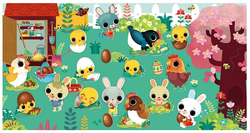 Paques ... ( lapins, poules, poussins ). Lito Editions