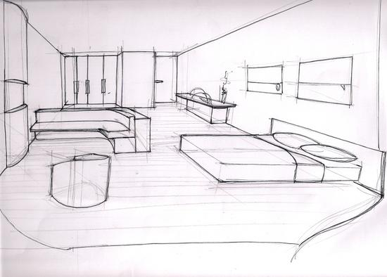 chambre dessin perspective des id es novatrices sur la. Black Bedroom Furniture Sets. Home Design Ideas