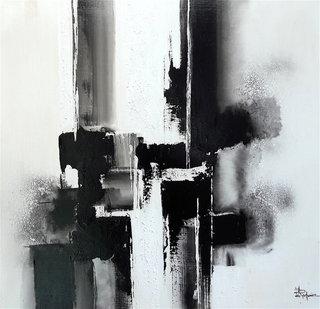 N° 211 / Acrylique et vernis - Format 60 x 60 cm