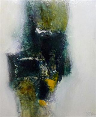 N° 1 / Acrylique et vernis - Format  65 x 54 cm