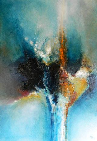 N° 104 / Acrylique et vernis - Format 130 x 97 cm