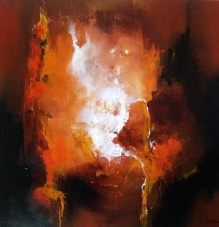 No/11. Acrylique et vernis - format 80 x 80 cm