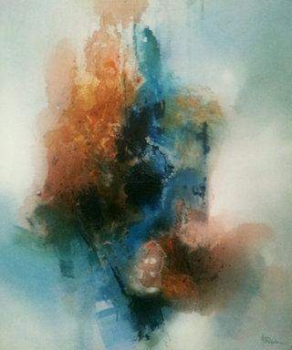 No/27. Acrylique et vernis - format 65 x 50 cm