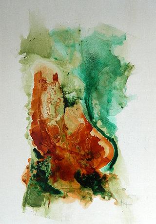 N° 69 / Acrylique et vernis- Format 92 x 65 cm