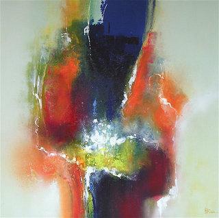 N° 45 / Acrylique et vernis - Format 70 x 70 cm