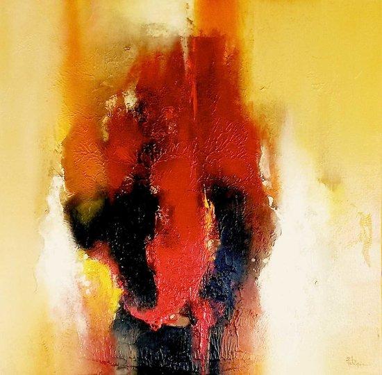N° 130 / Acrylique et vernis - Format 60 x 60 cm