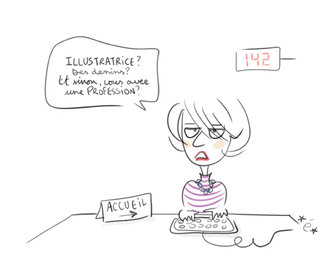 """Je suis illustratrice"""