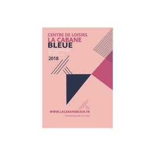 centre de loisirs La Cabane Bleue : proposition graphique
