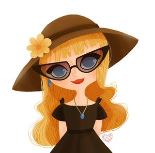la dame aux lunettes