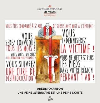 #desintoxprison, dessin de presse pour l'Observatoire International des Prisons