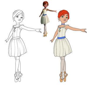 Adaptation d'images  3D en coloriage