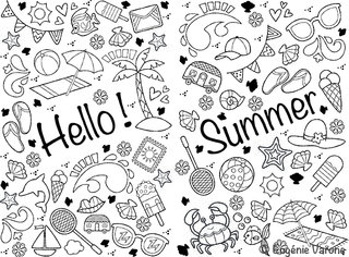 Coloriage Summer