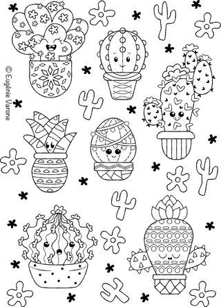 Coloriage Cactus