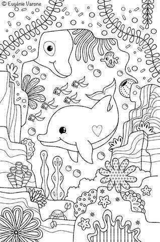 Dauphins des mers à pailleter