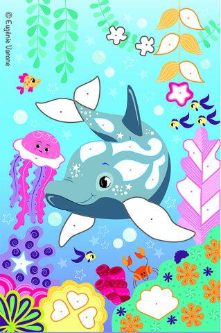 Mes dauphins à pailleter