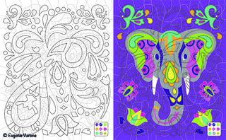 Coloriage Mystère Vice et Versa Eléphant