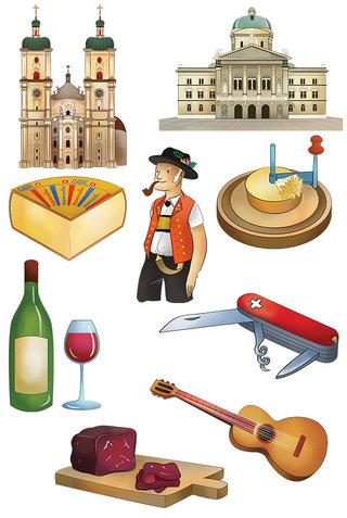 Mon puzzle de la Suisse - vignettes
