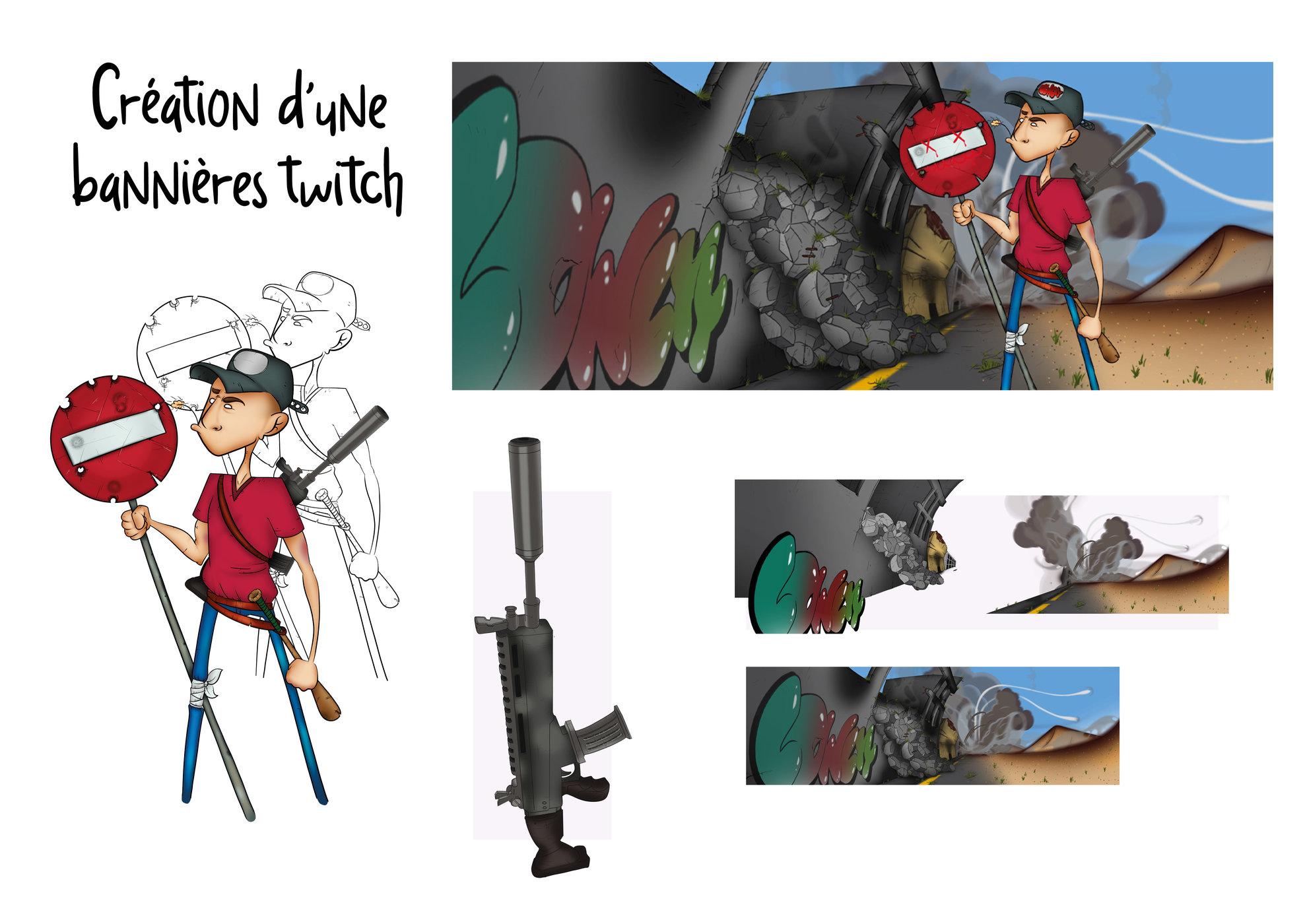 Création d'une bannière  Twitch .